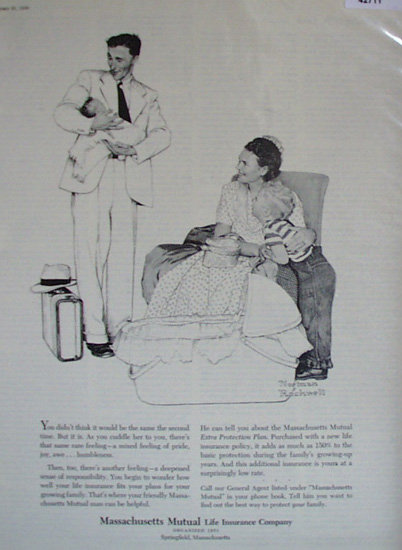 Mass. Mutual Life Insurance Co. 1956 Ad