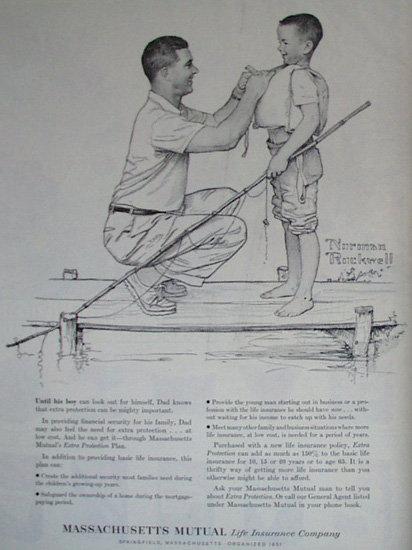 Mass. Mutual Life Insurance Co. 1960 Ad
