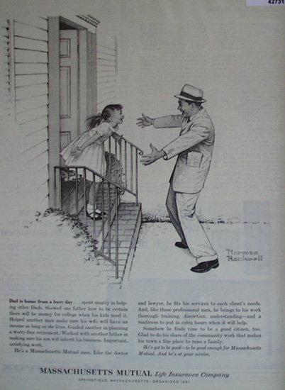 Massachusetts Mutual Life Insurance Co. 1961 Ad