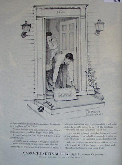 Mass. Mutual Life Insurance Co. 1962 Ad