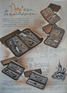 Joy Manicure And Pedicure sets 1947 Ad