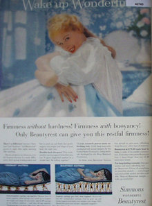 Simmons Beauty rest Mattress 1951 Ad