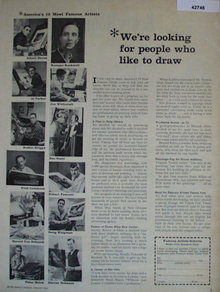 Famous Artists Schools 1960 Ad