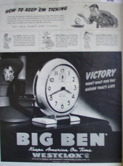 Westclox Division of General Time Instruments 1943 Ad