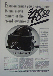 Cine Kodak E Camera 1907 To 1912 Ad