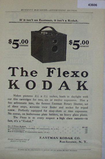 Kodak Flexo Camera 1907 To 1912 Ad