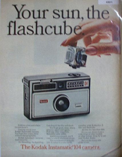 Kodak Instamatic 104 Camera 1967 Ad