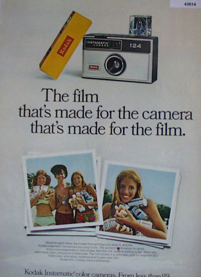 Kodak Instamatic Camera And Film Cartridge 1968 Ad