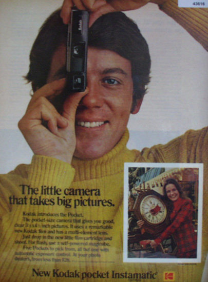 Kodak Pocket Instamatic Camera 1972 Ad