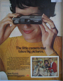 New Kodak Pocket Instamatic Camera 1972 Ad
