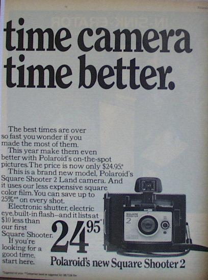 Polaroid New Square Shooter 2 Camera 1971 Ad
