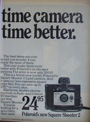Polaroid New Square Shooter 2 Camera 1971 Ad
