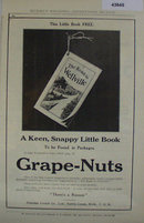 Grape Nuts Cereal 1907 To 1912 Ad