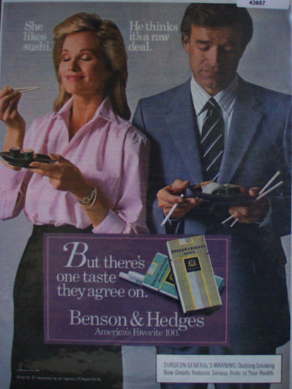 Benson And Hedges 100 Cigarette 1985 Ad