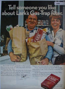 Lark Filter Cigarette 1969 Ad