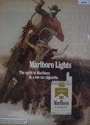 Marlboro Lights Cigarettes 1972 Ad