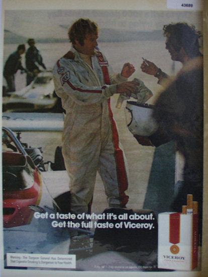 Viceroy Filter Cigarettes 1972 ad