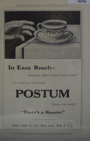 Postum Cereal Co. Coffee 1907 To 1912 Ad