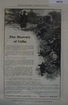 Postum Food Coffee 1907 To 1912 ad