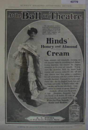 Hinds Honey And Almond Cream 1907 To 1912 Ad