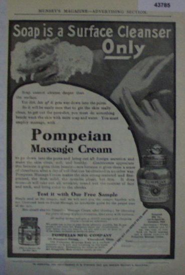 Pompeian Massage Cream 1907 To 1912 Ad