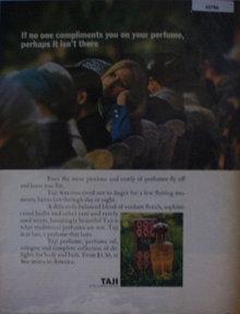Taji Perfume 1967 Ad.