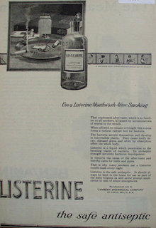 Listerine Mouthwash 1920 Ad