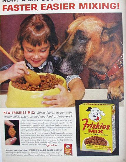 Friskies Mix Dog Food 1962 Ad
