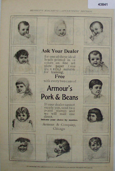 Armours Pork And Beans 1907 To 1912 Ad