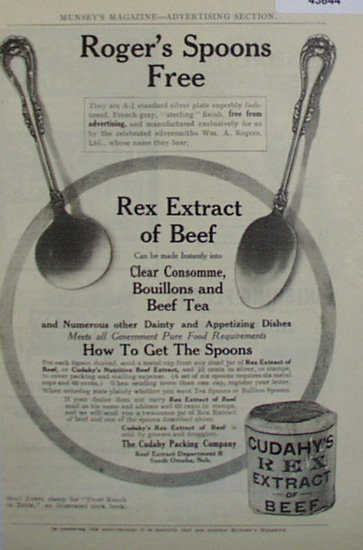 Cudahys Rex Extract of Beef 1907 To 1912 Ad