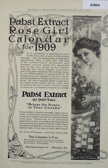 Pabst Extract 1909 Ad