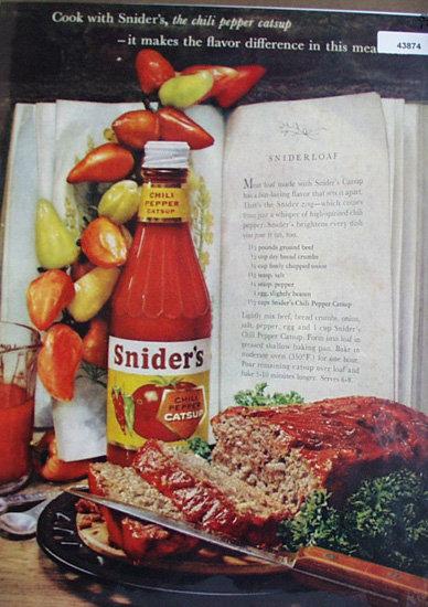 Sniders Chili Pepper Catsup 1960 Ad