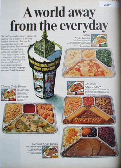 Swanson TV Dinner 1967 Ad