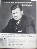Listerine Antiseptic 1962 Ad