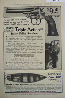 Hopkins And Allen Revolver 1907 To 1912 Ad