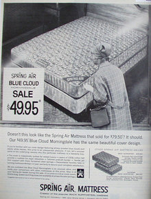 Spring Air Mattress 1968 Ad