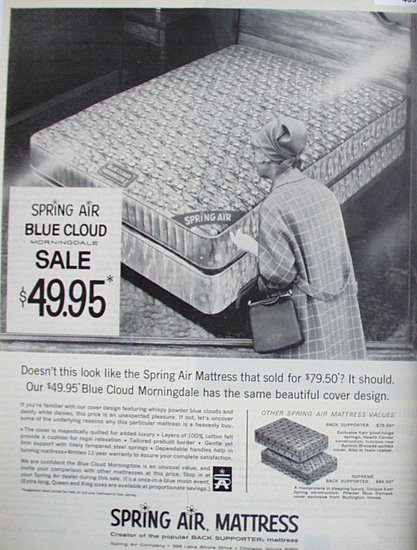 Spring Air Mattress 1968 Ad
