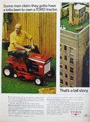 Toro Lawn Tractor 1969 Ad
