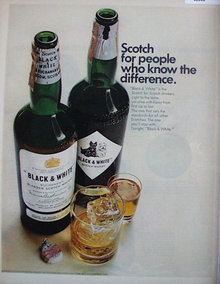 Black And White Scotch Whisky 1967 Ad
