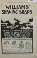 Williams Shaving Soap 1907 To 1912 Ad.