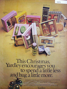Yardley Talacs Colognes And Soaps 1971 Ad.