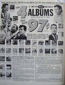 Capitol Record Club 1960 Ad