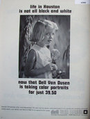Dell Van Dusen Portrait Photographer 1968 Ad