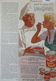 Van Camps Pork And Beans 1950 Ad