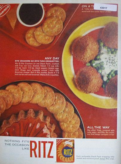 Nabisco Ritz Crackers 1963 Ad