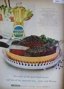 Wesson Poly Unsaturated Oil 1963 Ad