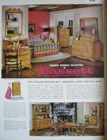 Bassett Wood Furniture 1963 Ad