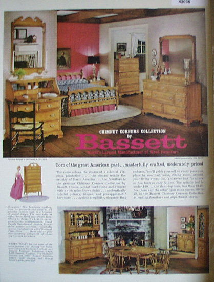 Bassett Wood Furniture 1963 Ad