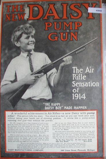 Daisy Pump Gun 1914 Ad