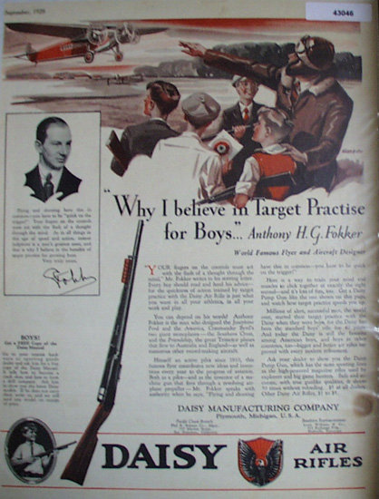 Daisy Air Rifles 1928 Ad